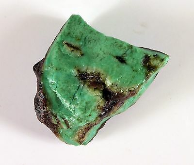 173 Ct Certified Natural Green Bio Cabochnon Quality Chrysoprase rough Gemstone