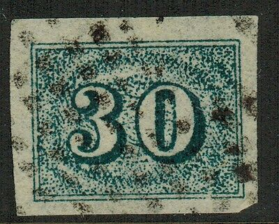 """Brazil #38, 1854 30r blue, FORGERY """"used"""", VF"""