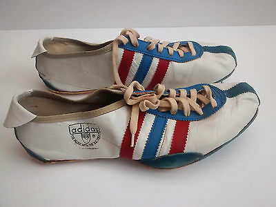 Rare Vintage 1968/69 Adi Dassler Adidas Track Shoes With Box Highly Collectible