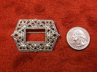 #3 of 3, STUNNING VTG ANTIQUE VICTORIAN? STERLING SILVER & MARCASITE BROOCH, VGC