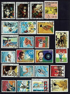 Republic Of Chad     Collection Of Various Stamps