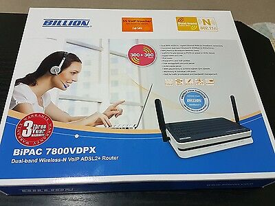 Billion Bipac 7800VDPX adsl2 modem wireless router dual band