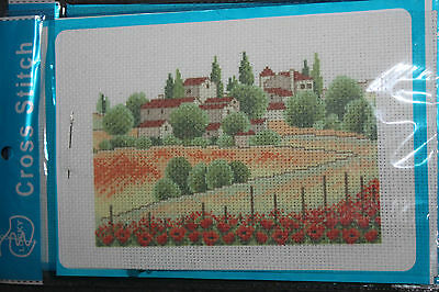 New in Packet CROSS STITCH KIT - Country scene