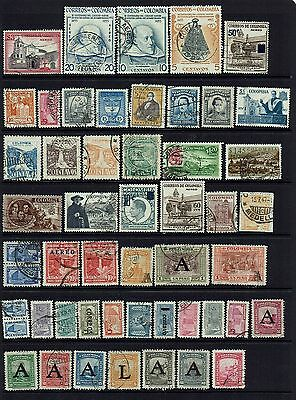 Colombia   Various Stamps Overprints...collection...