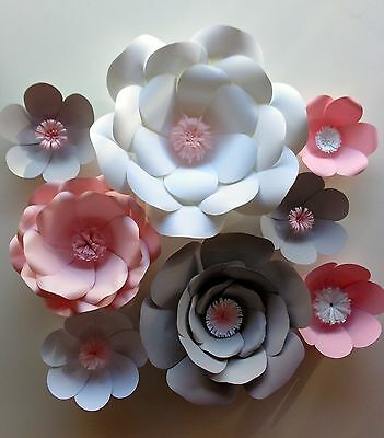 Large/Giant Paper Wall Flowers Event Home Nursery Hanging Decor