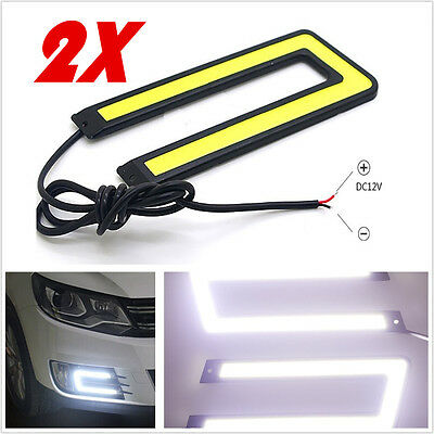 Hot U-Shaped 6000K Tron Style Cob White Led Daytime Running Lights Tron Style