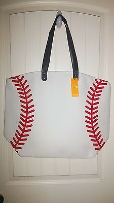 Baseball canvas tote