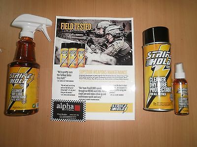 STRIKE HOLD CLEANER/ LUBRICANT/ PROTECTANT FOR ALL METALS 16 oz Spray bottle