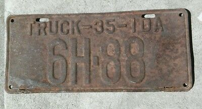 # 88 / 1935 Idaho truck license plate from Gooding County