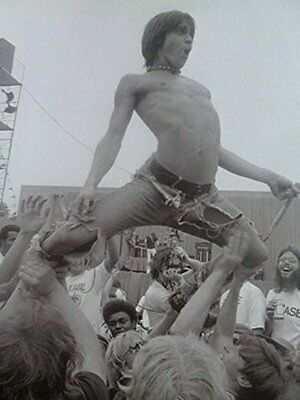 The Stooges' Iggy Pop, On Stage, 1971 - Mounted Mini Poster