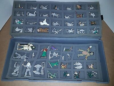 47 Ral Partha, Grenadier & other Miniatures with Carrying Case. 1977 to 1990's.