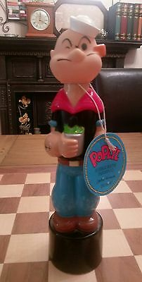 Popeye FULL Bubble Bath Shampoo Bottle Extremely Rare Circa 1986 + Tag