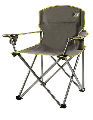 Heavy Duty Folding Camp Chair Outdoor Portable Seat 500LBS Oversized Camping Cup