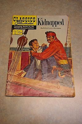 Vintage Classics Illustrated #46 'kidnapped' Robert Louis Stevenson Comic Hrn131