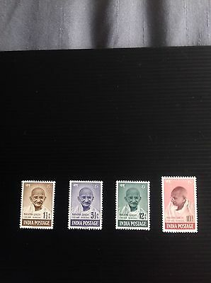 India 1948 Mahatma Gandhi Ghandi SG 305-8 MNH Cat Val £425 Full Gum