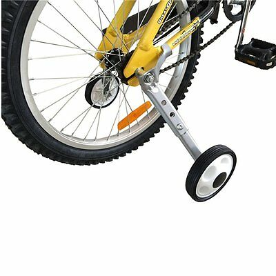 "Variable Speed Bicycle Training Wheels Adjustable for Childrens Kids 16"" to 24"""