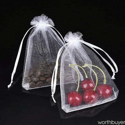 100 x Organza Wedding Party Favor Gift Candy Bags Jewelry Pouch Large 15cm*10cm