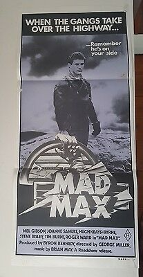 Rare 1979 first issue Mad Max poster
