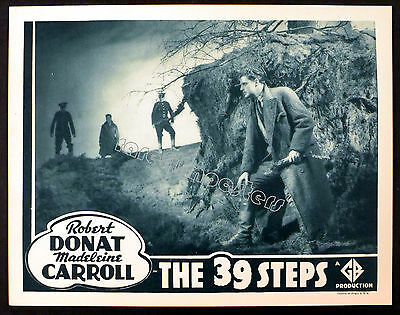 39 STEPS 1935 Robert Donat - Alfred Hitchcock LOBBY CARD