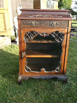 antique glass cabinet,ANTIQUE FURNITUR,GLASS CABINETS,CABINETS.