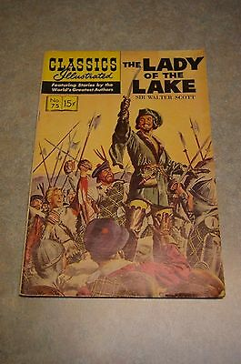 Vintage Classics Illustrated #75 'the Lady Of The Lake' Comic Hrn 153