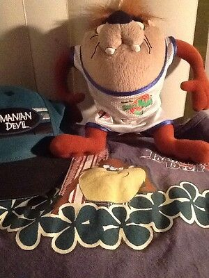 "Tasmanian Devil ""Taz"" TRIO COLLECTIBLE: CAP, TOP & PLUSH Figure Looney Tunes EUC"