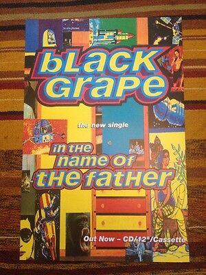 Black Grape. Happy Mondays-in the Name Of The Father Original Uk Promo Poster