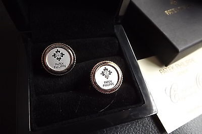 Patek Philippe Rose Gold & Silver Plated Cufflinks New Boxed & Card