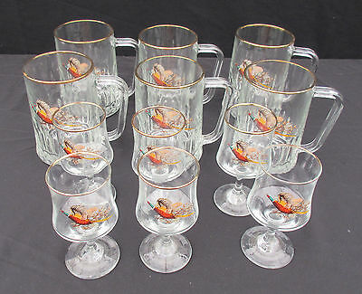 6 Glass Tankards With Matching Glasses (Charity Sale)
