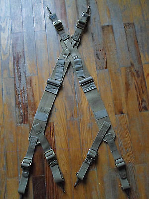 REAL us army british made khaki M 1944 44 suspenders 1945 45 ww2 1 garand 36