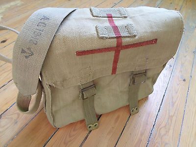 REAL british 8th army haversack pack messenger bag backpack pat 37 DAK WW2 42