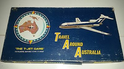 Australian Classic 1970 Board Game TAA Trans Australian Airlines The T Jet Game
