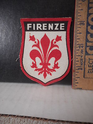 Firenze Florence Italy Travel Souvenir Patch  619TB.