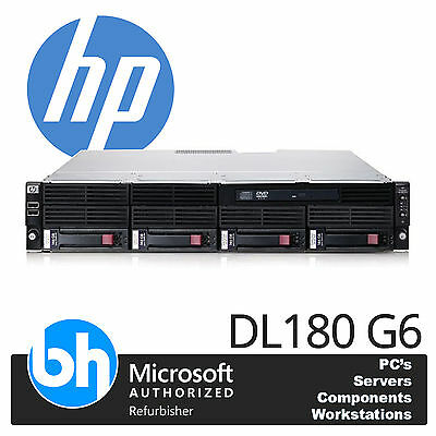 HP Proliant DL180 / DL160 G6 2x Quad Core Xeon 8GB RAM P410 Storage Rack Server