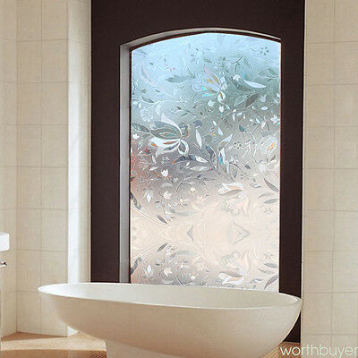 Window Film Sticker Static Decorative Privacy Frosted Stained Glass Home Decor W