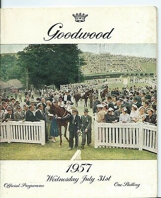 Horse Racing, Goodwood, 31St July 1957, Official Programme