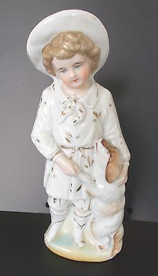 Antique/vintage Staffordshire Boy With Dog