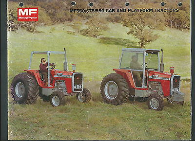 Massey Ferguson Mf550/575/590 Cab And Platform Tractors 16 Page Sales Brochure