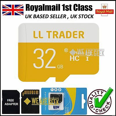 32GB Micro SD Card Class 10 TF Flash Memory SDHC For Smartphones Tablets Cameras
