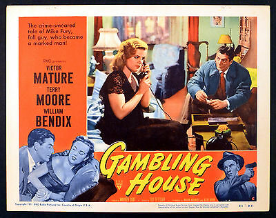 GAMBLING HOUSE 1950 Cleo Moore, Victor Mature LOBBY CARD #6
