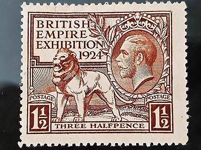 Great Britain GB 1924 Empire Exhibition Sc # 186 1 1/2d Mint Stamp