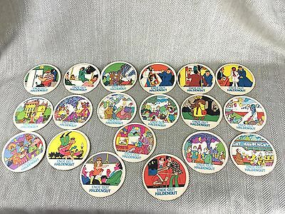 Vintage Haldengut German / European Beer Mats x 19 Job Lot  1970s  Beermats