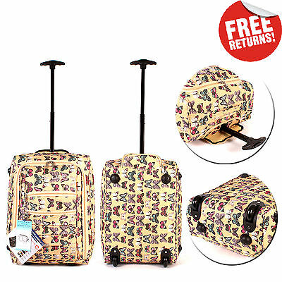 Lightweight Wheeled Hand Luggage Cabin Suitcase Women Carry On Flight Travel Bag