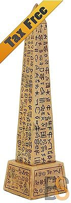 Obelisk Figurine Egyptian Statue Collectible Ancient Temple Fish Tank Decoration