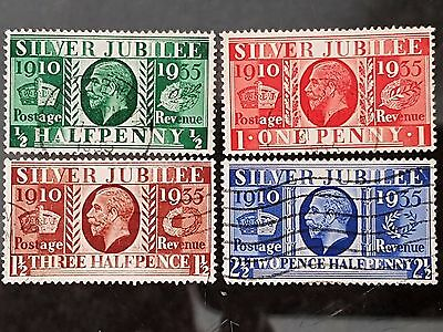 Great Britain GB 1935 Sc # 226 to Sc # 229 Jubilee Used Set Stamps CV US $11.00