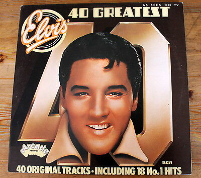 "ELVIS PRESLEY - 40 Greatest Hits - 1975 DOUBLE - 2 X 12"" VINYL LP'S"