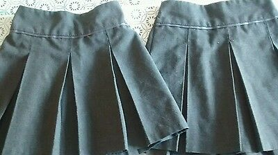 Girls grey school skirts age 4 years