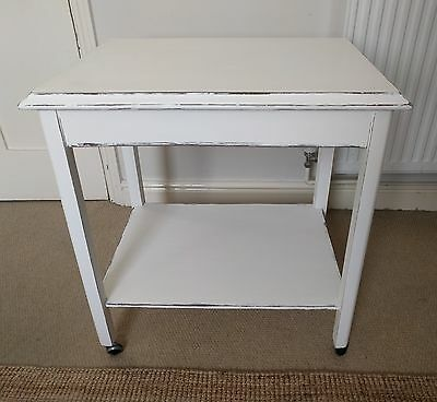 Shabby Chic Vintage Tea Trolley Cream Distressed Up-cycled