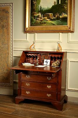 Solid Mahogany Georgian Bureau Desk Antique Reproduction DSK017 NEW