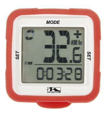 M Wave XIV Bike Cycle 14 Function Wireless Digital Computer Silicone Red CP712